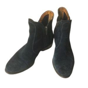 Matisse suede ankle booties blue SZ 6